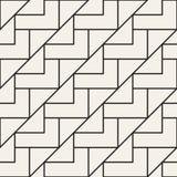 Sömlös gallermodell för vektor Modern stilfull textur med monokrom spaljé Upprepa geometriskt raster enkel design vektor illustrationer