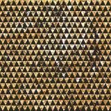 Sömlös geometrisk abstrakt bakgrund Guld- trianglar Etnisk modell i zentanglestil Royaltyfri Foto
