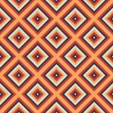 Sömlös geometrisk bakgrund i orange färger Arkivfoton
