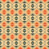 Sömlös geometrisk etnisk modell stock illustrationer