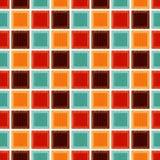Sömlös geometrisk fyrkantig tegelplattabakgrund Royaltyfri Bild