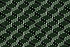 Sömlös geometrisk grön textur Arkivfoto