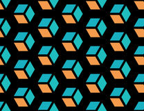 Sömlös geometrisk kubbakgrund Arkivbilder