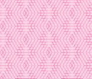Sömlös geometrisk modell, abstrakt bakgrund för sexhörning, rosa vektor Royaltyfri Illustrationer