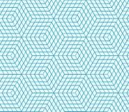 Sömlös geometrisk modell, abstrakt bakgrund för sexhörning, universell tapet för vektor Stock Illustrationer