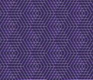 Sömlös geometrisk modell, abstrakt bakgrund för sexhörning, universell tapet för vektor Vektor Illustrationer