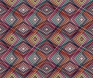 Sömlös geometrisk modell i bohostilen Afrikanskt motiv, abstrakt begrepp Arkivfoton