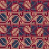 Sömlös geometrisk modell i bohostilen Slaviskt motiv Traditionella nationella bevekelsegrunder av det slaviska folket Royaltyfri Foto