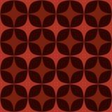 Sömlös geometrisk modell i bruna färger Royaltyfri Illustrationer