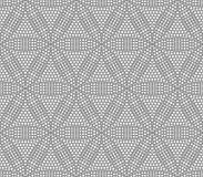 Sömlös geometrisk modell i form av abstrakta blommor, Arkivbild