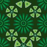 Sömlös geometrisk modell i gröna signaler Royaltyfri Bild