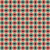 Sömlös geometrisk modell i Retro färger för Hipsters royaltyfri illustrationer
