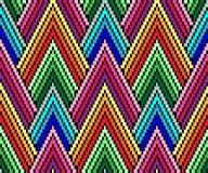 Sömlös geometrisk modell i stilen av PIXELkonst Afrikanskt motiv, boho Royaltyfri Fotografi