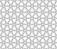 Sömlös geometrisk modell i tunna linjer Arkivbild