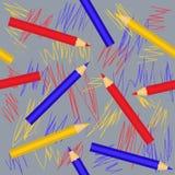 Sömlös geometrisk modell med färgrika blyertspennor eps10 blommar yellow för wallpaper för vektor för klippning för rac för orang vektor illustrationer