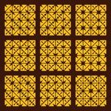 Sömlös geometrisk modelluppsättning för vektor Royaltyfri Foto
