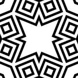 Sömlös geometrisk monokrom gjord randig modell Fotografering för Bildbyråer