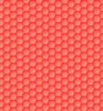 sömlös geometrisk orange modell 3D av sexhörningar royaltyfria foton