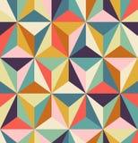 Sömlös geometrisk retro modell stock illustrationer