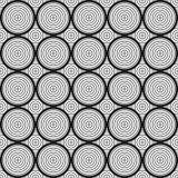 Sömlös geometrisk svartvit modell med cirklar vektor illustrationer