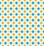 Sömlös geometrisk textur med romben och prickar, skraj kontrast Arkivbild