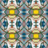 Sömlös geometritappningmodell, etnisk stil Royaltyfri Foto