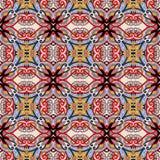 Sömlös geometritappningmodell, etnisk stil Royaltyfri Bild