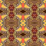 Sömlös geometritappningmodell, etnisk stil Arkivfoto