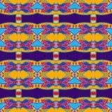 Sömlös geometritappningmodell, etnisk stil Fotografering för Bildbyråer