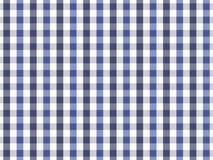 Sömlös ginghammodell för blå och marinblå bordduk Design för två färg Royaltyfri Illustrationer
