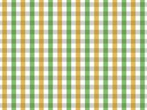 Sömlös ginghammodell för grön och gul bordduk Design för två färg Vektor Illustrationer