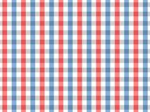 Sömlös ginghammodell för röd och blå bordduk Design för två färg Stock Illustrationer