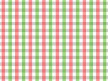 Sömlös ginghammodell för röd och grön bordduk Design för två färg Royaltyfri Illustrationer