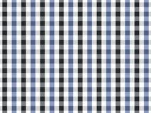 Sömlös ginghammodell för svart och blå bordduk Design för två färg Stock Illustrationer
