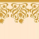 Sömlös gräns för vektor i viktoriansk stil Royaltyfri Bild