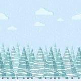 Sömlös gräns för vektornatur för designmall stock illustrationer