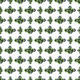 Sömlös grön geometrisk modell på en vit bakgrund Royaltyfria Bilder