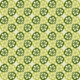 Sömlös grön modell för vektor Arkivbild