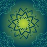 Sömlös grön modell på lutningtextur Ändlös modell för abstrakt för yogayantra för vektor stam- etnisk bakgrund ethnic vektor illustrationer