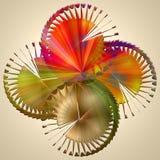 Sömlös grafisk sammansättning med spirala beståndsdelar #2 Arkivfoton