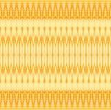 Sömlös gul brunt för sicksackmodell horisontellt Arkivfoto