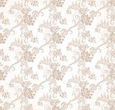 Sömlös guld- blom- tapet för vektor stock illustrationer