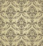 S?ml?s guld- damast design f?r dekor, textil, tyg, keramiskt, tapet eller bakgrund vektor illustrationer