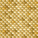 Sömlös guld- flodfiskvåg vektor illustrationer
