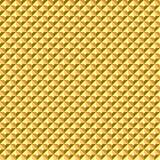 Sömlös guld- geometrisk lättnadstextur Arkivfoto