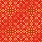 Sömlös guld- kinesisk kedja för kors för spiral för bakgrundspolygonkurva Royaltyfria Foton