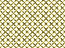 Sömlös guld- modell för ringbrynjacirkelingrepp stock illustrationer
