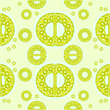 Sömlös guling för prydnadlimefruktgräsplan Royaltyfri Foto