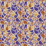 Sömlös härlig blom- bakgrund i guling, brunt-apelsin och Arkivfoton