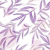 Sömlös hand dragen botanisk modell vektor illustrationer